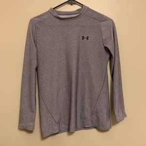 Gray Under Armour Long Sleeve Heatgear (YXL)